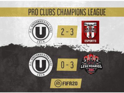 Debut pentru FC Universitatea Cluj eSports în Pro Clubs Champions League