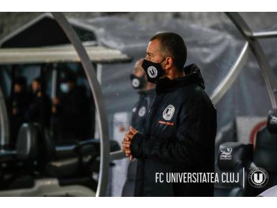 """FC Unirea Dej - """"U"""": 0-2. Costel Enache: """"Am văzut azi niște băieți foarte responsabili, implicați, cu dorință de joc"""""""