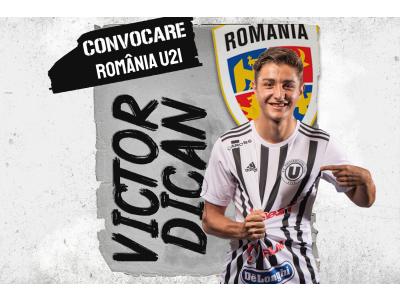 România U21. Victor Dican, convocat pentru acțiunea din Spania