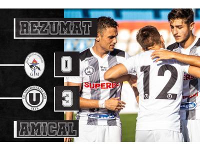 "REZUMAT | Gaz Metan Mediaș - ""U"": 0 - 3"