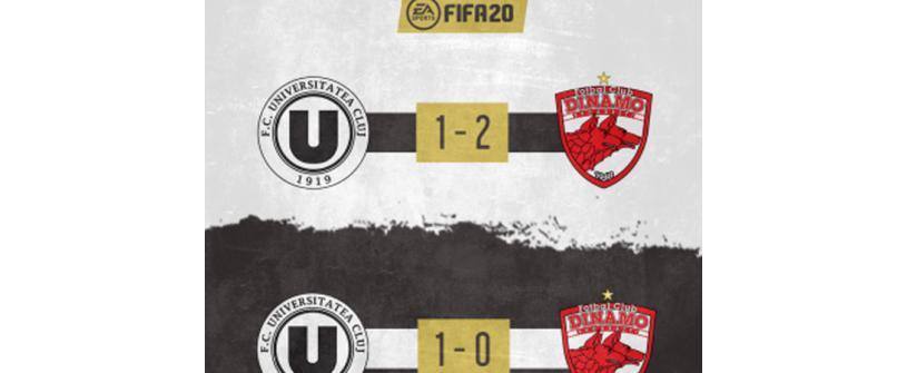Meciurile caritabile de FIFA Pro Clubs dintre FC Universitatea Cluj și Dinamo București au strâns 22.090 lei pentru Spitalul Clinic de Boli Infecțioase Cluj-Napoca