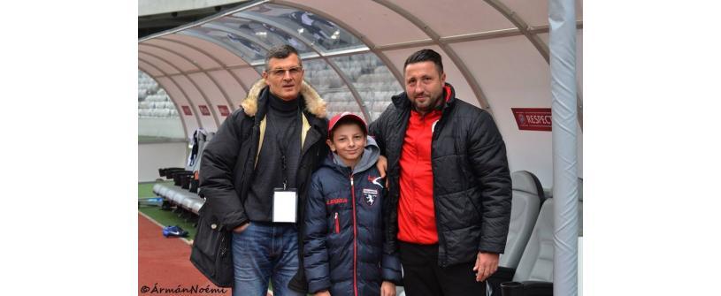 FC Universitatea Cluj îndeplinește dorințe! Darius și-a cunoscut idolii pe stadion