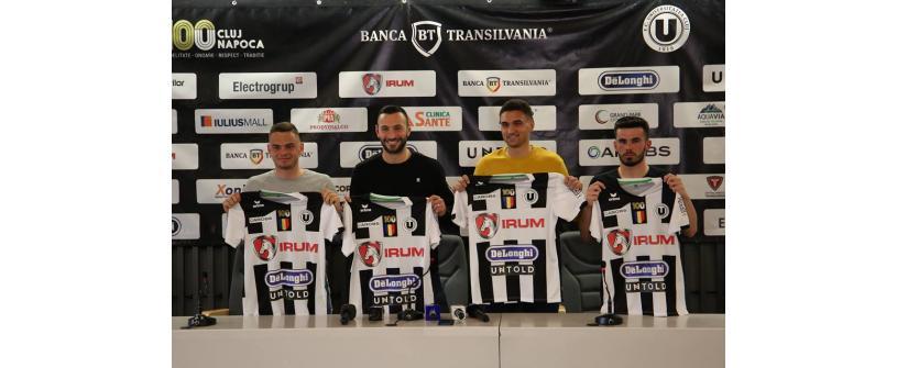 """FC Universitatea Cluj și-a prezentat achizițiile iernii: """"Împreună spre Liga 1!"""""""