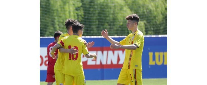 """România U17. Cu trei """"U""""-iști în teren, naționala U17 a României s-a impus cu 3-1 în fața Cehiei la Syrenka Cup"""