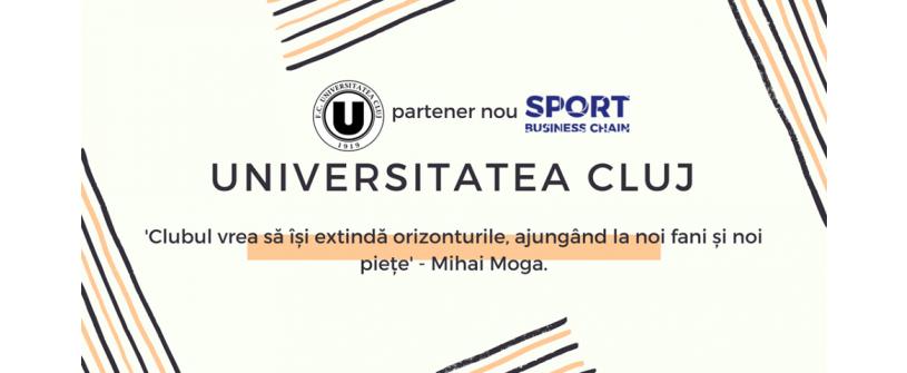 FC Universitatea Cluj este partener Sport Business Chain. Internship într-unul dintre departamentele clubului pentru un tânăr pasionat de fotbal
