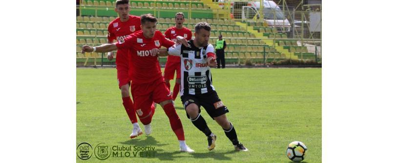 "Aducem primul punct din deplasare. CS Mioveni – ""U"" Cluj 1-1"