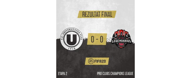 FC Universitatea Cluj Esports obține primul punct în Pro Clubs Champions League