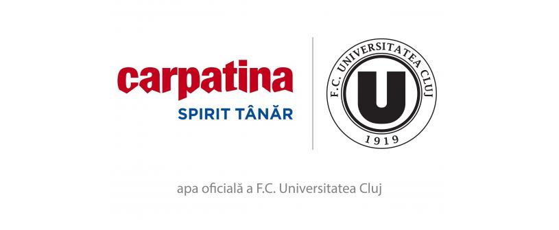 Carpatina, partener oficial de hidratare FC Universitatea Cluj