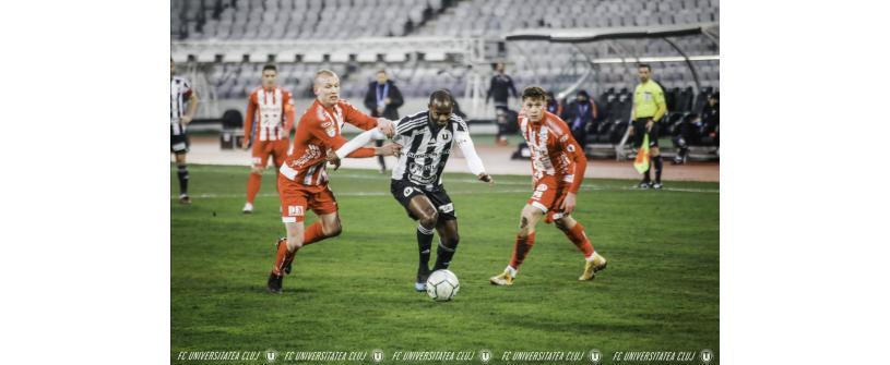 """Derick Ogbu, debut cu gol la """"U"""": Sunt foarte fericit pentru reușita mea, însă cea mai importantă este calificarea"""