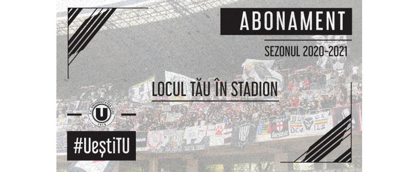 """FC Universitatea Cluj lansează ediţia 2020 a campaniei """"Locul tău în stadion"""""""