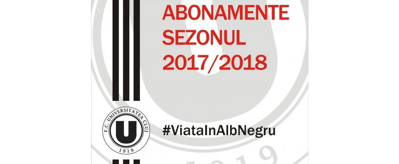 Abonamentele pentru sezonul 2017/2018, disponibile acum!