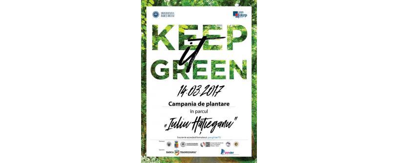 """Keep it Green! Participăm la cea mai mare campanie de plantare din Parcul Sportiv """"Iuliu Hațieganu"""""""