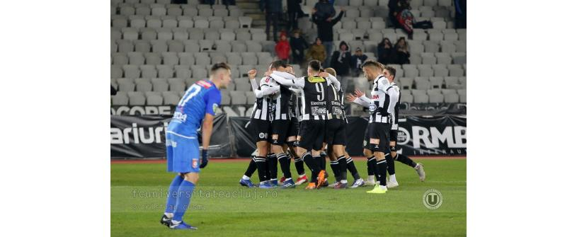"Debut perfect pentru Lobonț și derby adjudecat. ""U"" – Chindia 3-1"