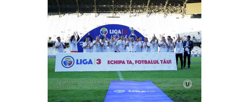 """""""Studenții"""" au învins Cugirul și au primit trofeul de campioni ai Ligii a III-a"""