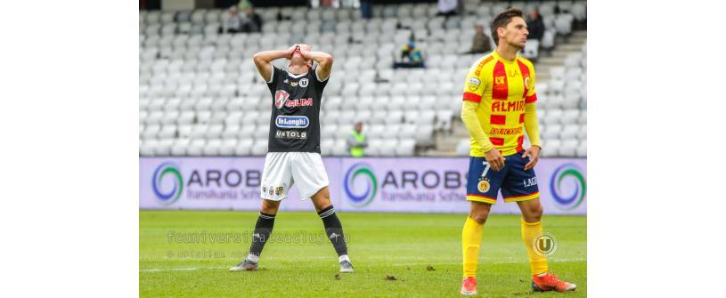"""A treia remiză la rând. Sportul Snagov – """"U"""" Cluj 1-1"""