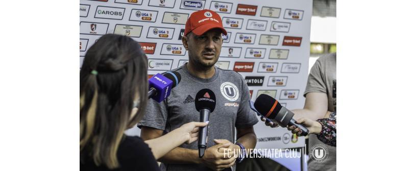 """Costel Enache: """"Cred în continuare în obiectivul pe care clubul și l-a propus și eu mi-l asum alături de stafful meu"""""""