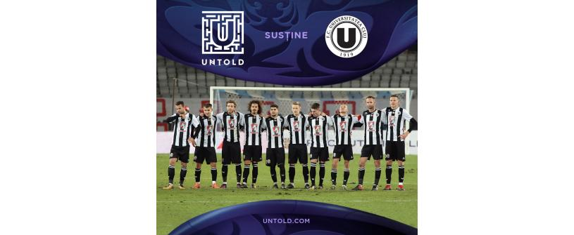 "Untold susține ""U"" Cluj"