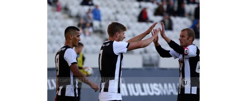 """Studenții"", pe podium. ""U"" Cluj – Viitorul Ghimbav 7-2"