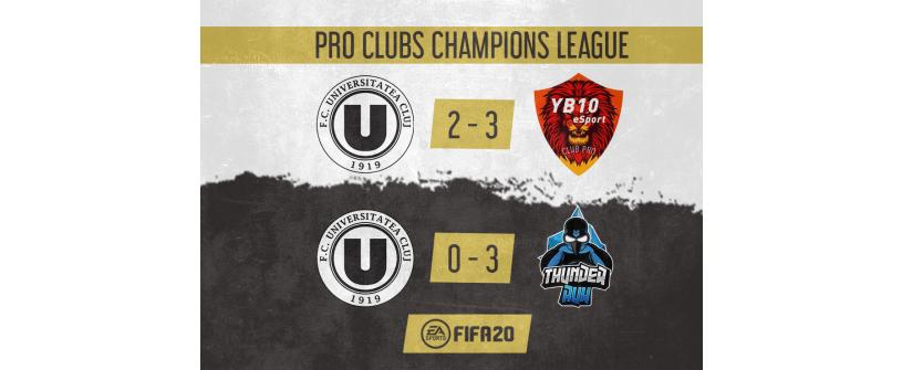 Încă două jocuri pentru echipa de eSports în Pro Clubs Champions League
