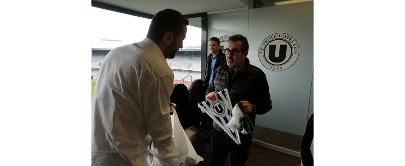 Fost preşedinte al FC BARCELONA, în vizită la FC UNIVERSITATEA CLUJ