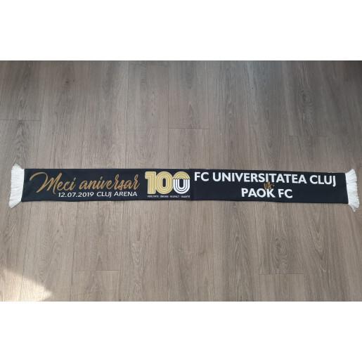 "Esarfa ""FC Universitatea Cluj - PAOK Salonik"""