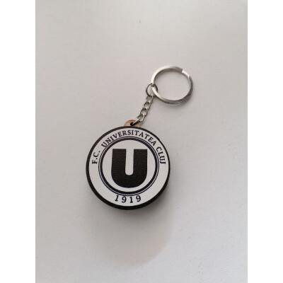 Breloc din lemn sigla FC Universitatea Cluj